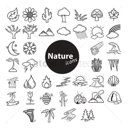 Linear : Collection of nature icons
