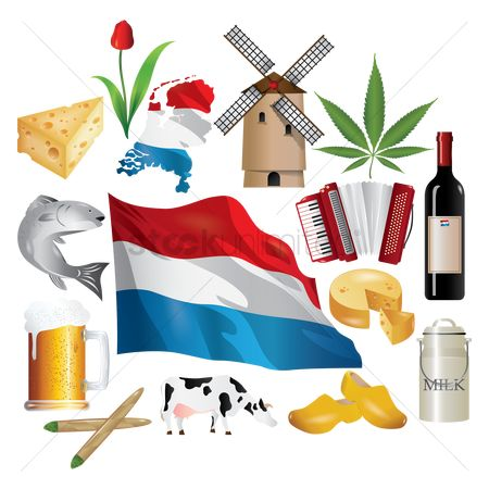 Dairies : Collection of netherlands icon