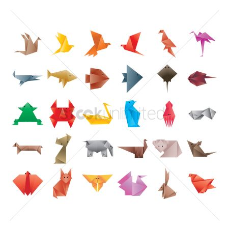 Hawks : Collection of origami animals