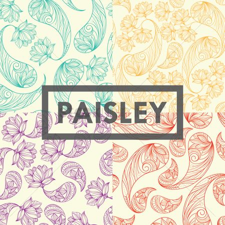 Traditional : Collection of paisley design