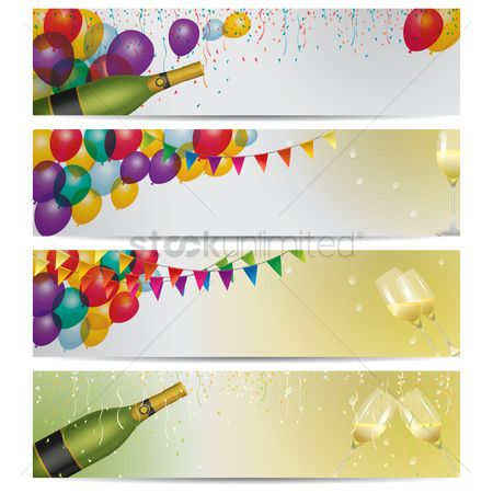 Grapes : Collection of party banners