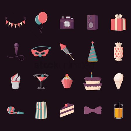 Straw : Collection of party icons