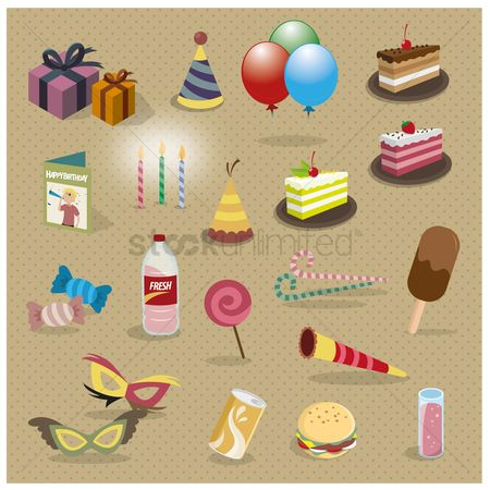 Confections : Collection of party items