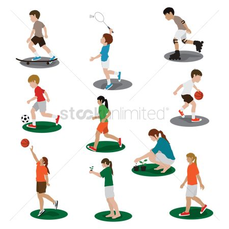 Footballs : Collection of people and activities