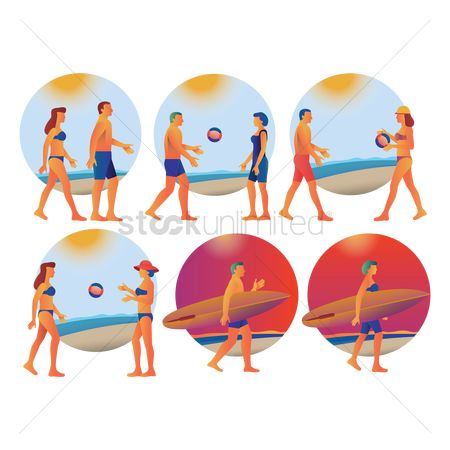 Swimsuit : Collection of people at the beach