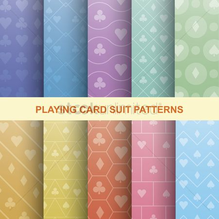 Spade : Collection of playing card suit patterns