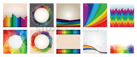 Copy spaces : Collection of rainbow backgrounds