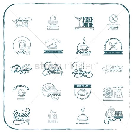 Pizzas : Collection of restaurant icons