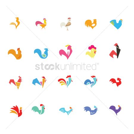 Roosters : Collection of rooster designs