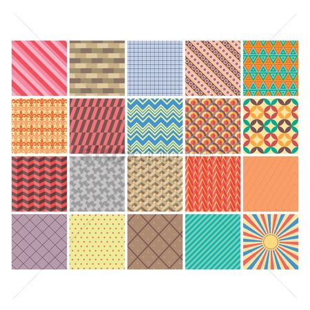 Geometrics : Collection of seamless designs