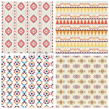 Mexicans : Collection of seamless tribal pattern