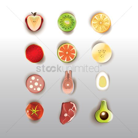 Slices : Collection of sliced fruits and meat