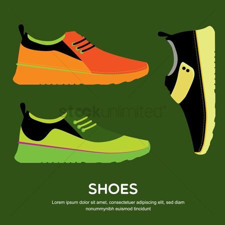 Footwear : Collection of sneakers