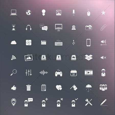 Flag : Collection of social media icons