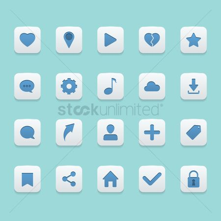 Plus : Collection of social media icons