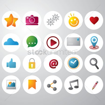 Comment : Collection of social media icons