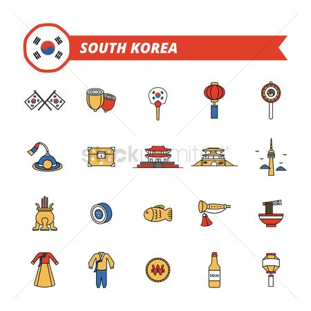 Drums : Collection of south korea icons