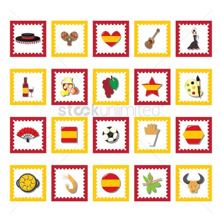 Tricolored : Collection of spain icons