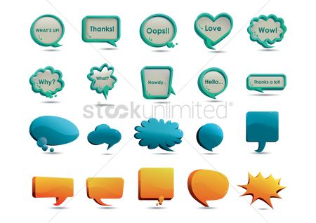 Love speech bubble : Collection of speech bubbles