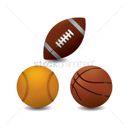 American football : Collection of sport balls