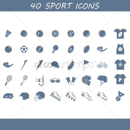 Racket : Collection of sport icons
