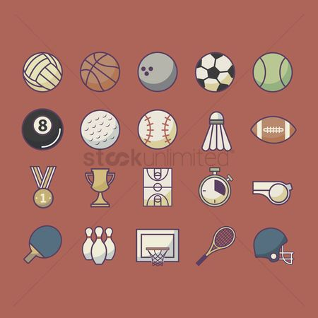 Footballs : Collection of sport icons