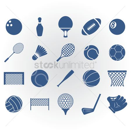 Basket ball : Collection of sports equipment