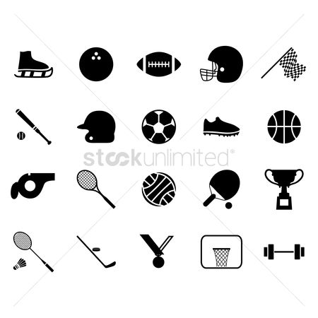 Basket ball : Collection of sports icons