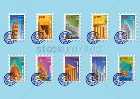 Pisa : Collection of stamps