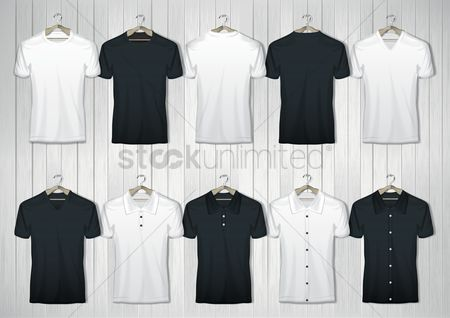 Fashions : Collection of t-shirts
