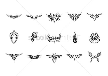 Antelopes : Collection of tattoo design