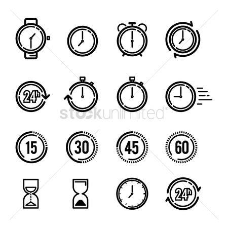 Minimalist : Collection of time icons
