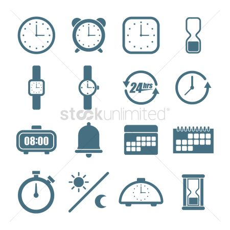 Minute : Collection of time icons