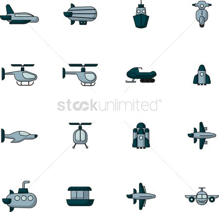 Vessel : Collection of transportation icon