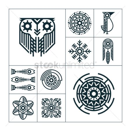 Floral : Collection of tribal tattoos