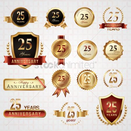 Shield : Collection of twenty five years anniversary design