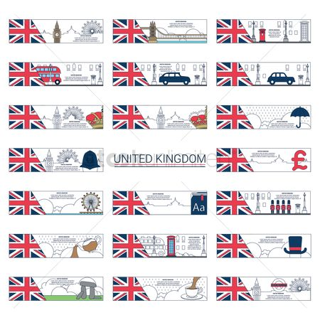 Taxis : Collection of united kingdom banners