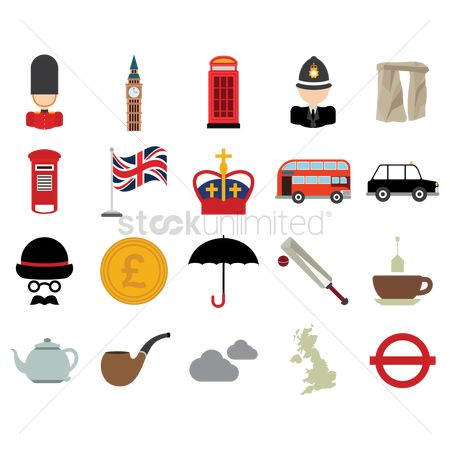 Smoking pipe : Collection of united kingdom icons