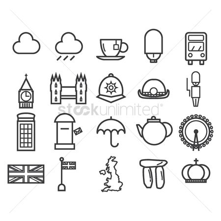 Teapot : Collection of united kingdom icons