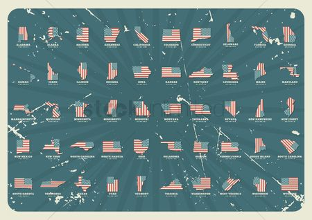 Oldfashioned : Collection of united states maps