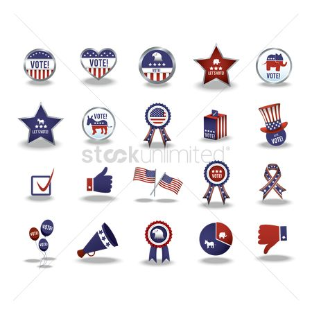 Votes : Collection of usa icons