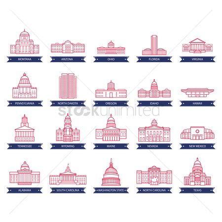 Oregon : Collection of usa state capitol buildings