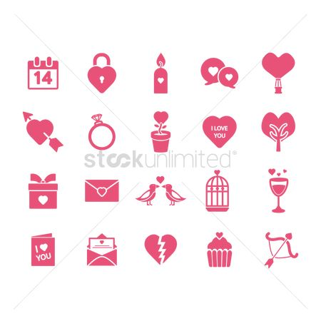 Valentines day : Collection of valentine s day icons