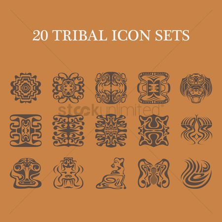 Lion : Collection of various tribal tattoos