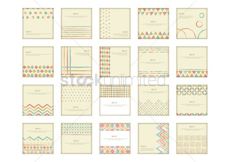 Fonts : Collection of vintage background design