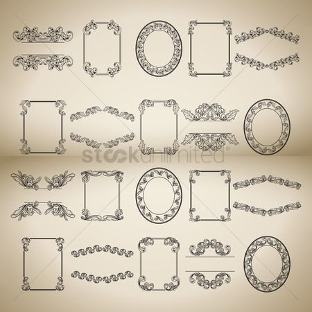 Classic : Collection of vintage decorative frames