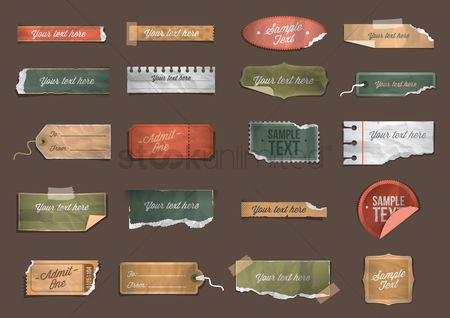 Paper : Collection of vintage papers and tags