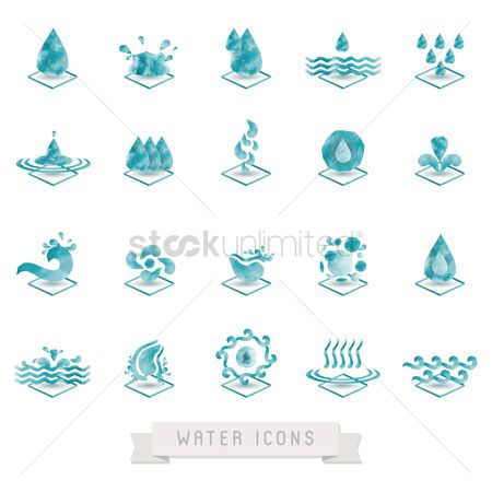 Shield : Collection of water icons