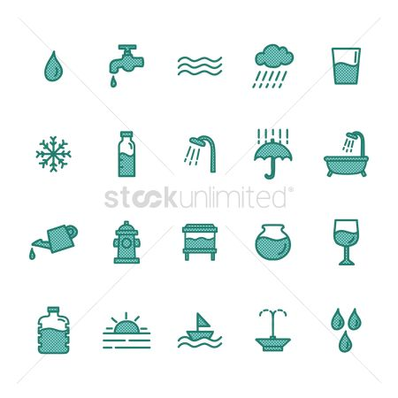 Faucets : Collection of water icons