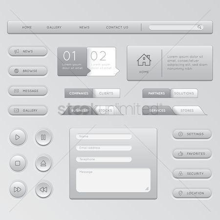 User interface : Collection of web design elements